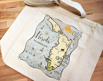 Florida State Map Tote