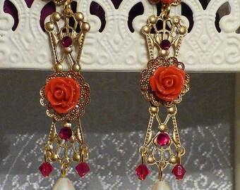 Briar Rose Dangle Earrings