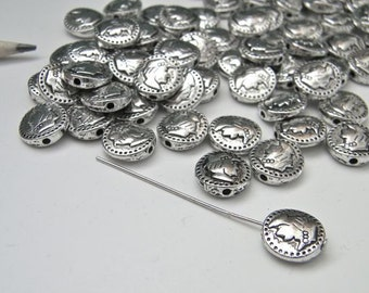 Tiny Coin Beads - Set of 20