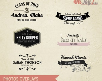 INSTANT DOWNLOAD - Senior Photo Overlays Photoshop Template - PO100