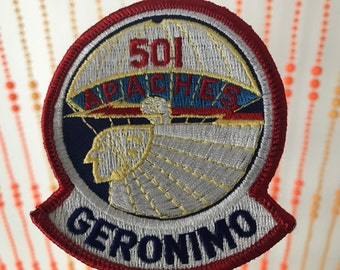 Vintage 501 Apaches Geronimo Patch