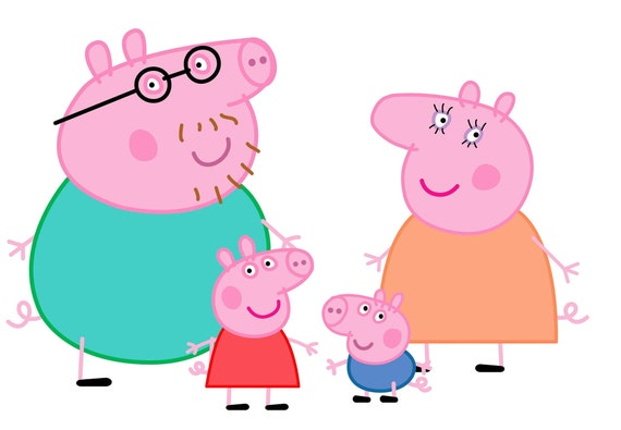PEPPA PIG family svg, peppa pig svg, peppa pig family svg, Peppa pig svg,  George pig svg, Peppa svg, Peppa Family svg, Familia peppa pig svg