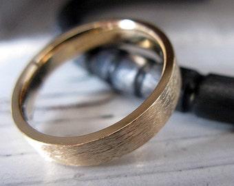 SALE Size 11-3/4 Mens Wedding Band Brushed 14k Yellow Gold Band Mens Wedding Ring Unique Mens Wedding Band Mens Wedding Rings Viking Wedding