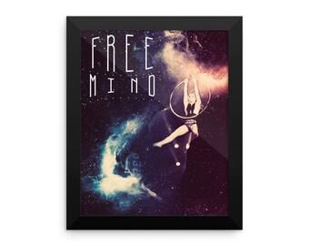 Free mind Framed poster