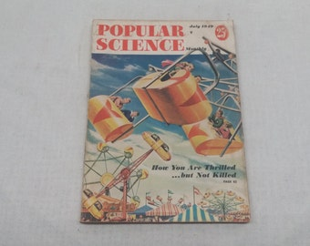 Popular Science July 1949 - Great Condition - How You Are Thrilled but not Killed - SCUBA - Fascinating Articles and Hundreds of Vintage Ads