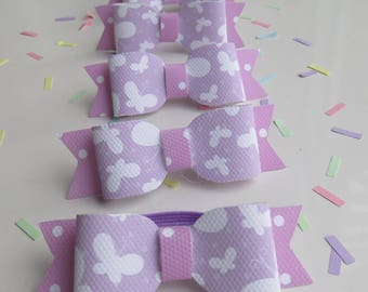 Hair Bows Butterfly Print - Hair Bows Set - Party Bag Fillers - Hair Accessories - Party Accessories