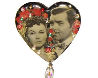 Vintage Heart Brooch DftD Designs from the Deep Gone With The Wind