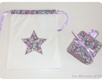 """Washable wipes pouch """"Lila"""" and"""