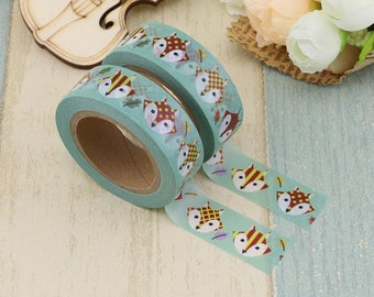 Foxes Washi Tape - Fox Masking Gift Tape
