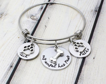 Custom Pet Memorial Bracelet - Dog Memorial bracelet - Cat Memorial Bracelet - Pet Loss Gift - Loss of Pet Bracelet - Pet Memorial Jewelry