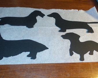 Dachshund Die Cuts,dog die cuts,weiner dog die cuts