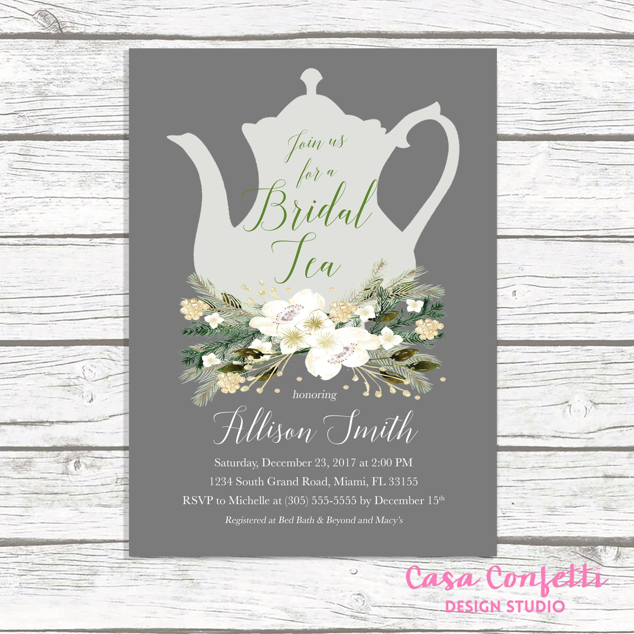 Christmas bridal shower invitation bridal tea invitation tea party christmas bridal shower invitation bridal tea invitation tea party invitation winter bridal shower invitation tea bridal shower invite filmwisefo