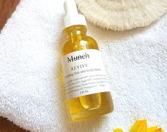 R E V I V E Nourishing Hair and Scalp Serum   with Aloe and Nettle Extracts   Organic