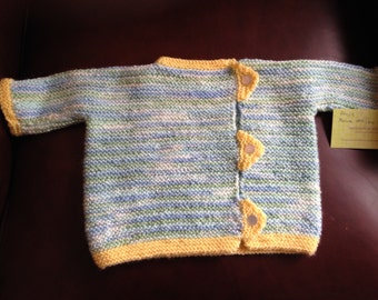 Free Shipping! ON SALE !  Baby's side buttoned sweater Size 9 months