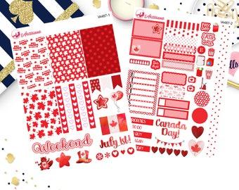 Canada Day Weekly Planner Kit - Planner Stickers - Celebration Stickers - Life Planner - Happy Planner Stickers - Erin Condren Stickers