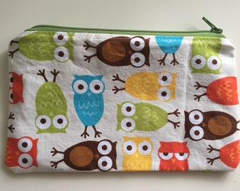 Reusable Snack Bag, Kid Snack Bag, Owls