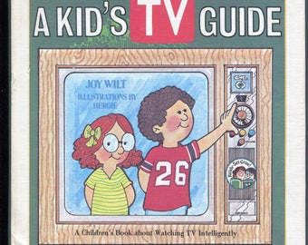 Vintage Kid's TV Guide Childrens Book About Watching Television Intelligently 1970s Hardcover Book Color Illustrations