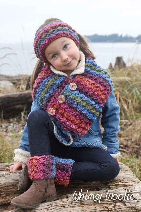 Crochet scarf pattern button wrap scarf with headband crochet scarf pattern button wrap scarf with headband boot cuffs child women easy crochet dt1010fo