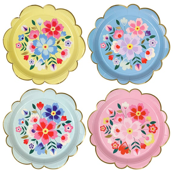Like this item?  sc 1 st  Etsy & Floral Paper Plates Large Bridal Tea Party Plates Garden