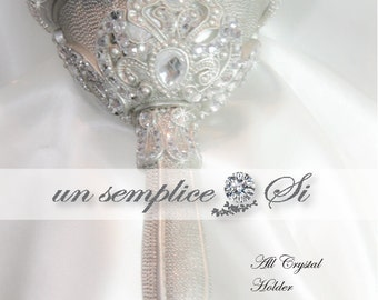 Brooch Bouquet ,Swarovski Crystal Holder