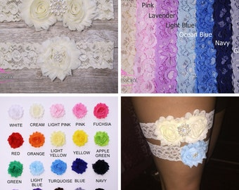 Wedding Garter Set, bridal garter set, Wedding Garter Ivory, Lace Garter, ivory, lace wedding garter, wedding gift, plus size garter WG02