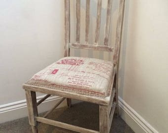 French Style Oak Upholstered Chair