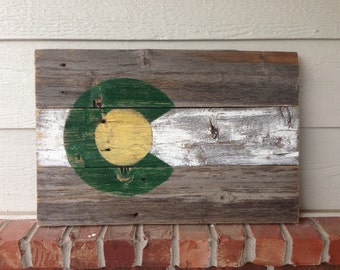 CSU Rustic Wood Colorado Flag - Colorado State University