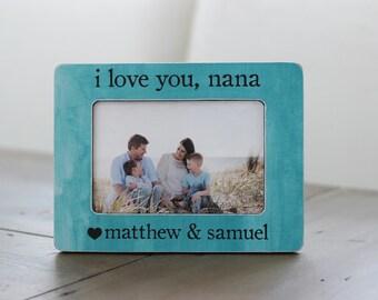 Personalized Gift for Nana | Grandma Nana Gift | Gift for Grandma | I Love You Nana Picture Frame Gift