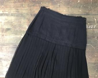 Chiffon Shear Pleated Skirt