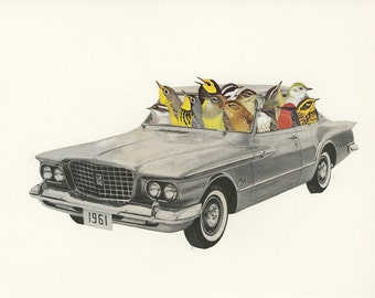 Joyride.  Collage print by Vivienne Strauss.