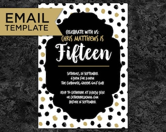 Teenager invitation etsy 15th birthday invitation email invitations 15th birthday template 15th birthday editable teenager filmwisefo Image collections