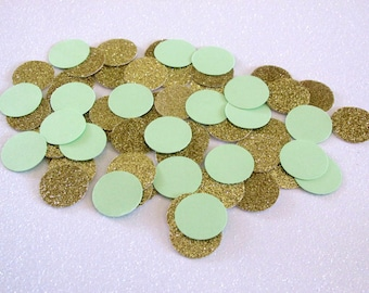 200 Mint Gold Confetti Mint Gold Wedding Mint Gold Birthday Mint Gold Shower Mint to Be Mint First Birthday Mint Gold Party Wedding Confetti