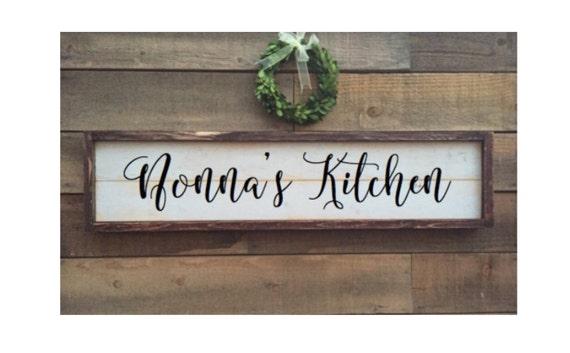 Kitchen sign framed shiplap vintage Home Decor