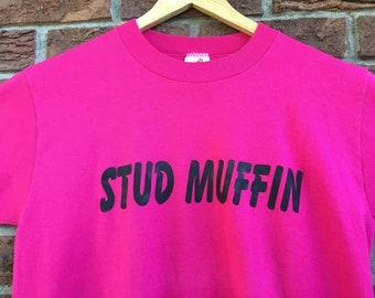 1980s STUD MUFFIN Shirt (M)