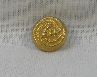 Gold button, diameter 11 mm, set of 2