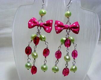 Quartz and Freshwater Pearl Earrings