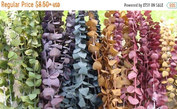 SUMMER WREATH SALE Dyed Dried Preserved Eucalyptus- Dried Floral Arrangement- Natural Fragrance- Wedding Decor- Country Decor- Rustic Weddin