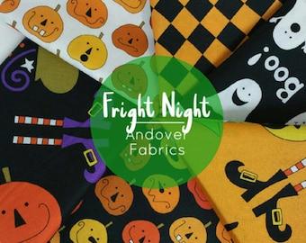 Fright Night Halloween FAT QUARTER Bundle from Andover Fabrics - 6 Fabrics
