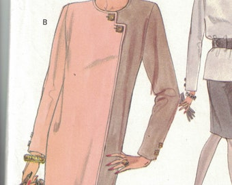 Vogue 8507 Womens Pull Over tapered Dress, Top and Skirt SIze 14,16,18 UNCUT