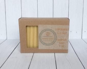 Lemongrass Coconut Scent Soap, Goat Milk Soap, Kitchen Soap, Citrus Scent Soap, Handmade Soap, Gift Soap, Bar Soap