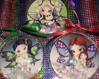 Nightmare before Christmas fairy themed ornaments -3ornament set
