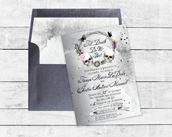 Till Death Do Us Part Gothic Wedding Invitation