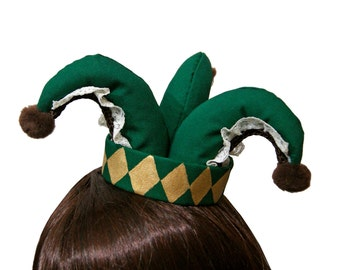 Mini Circus Diamond and Lace Jester Hat - More Colors Available!