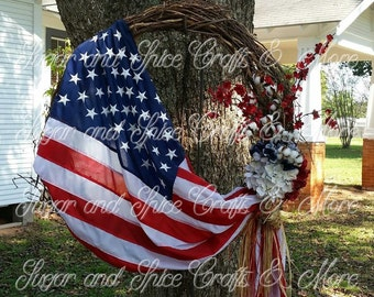 Patriotic Wreath- Proud to be an American