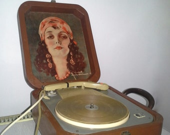 Turntable Vintage Record Player Portable - Made in 1950's