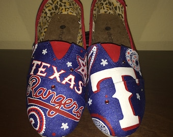 Texas Rangers women's shoes Toms available
