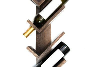 Wine rack, wood wine rack, small wine rack, rustic wine rack, wine holder, wine bottle holder, wall mount wine rack, wine rack wood