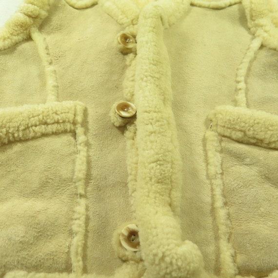 80s Real Sheepskin Vest Western Puffy 4 Vintage 2 Fur M Shearling H38R UYqdw5xn