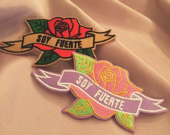 Soy Fuerte Rose Patch