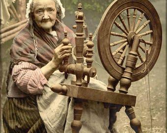 Poster, Many Sizes Available; Irish Spinning Wheel C1890